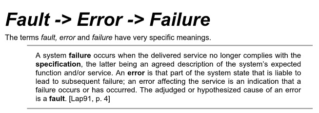 fault-error-failure